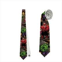 necktie hulk santa christmas holiday comics superhero funny tie - $22.00