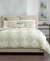 Hotel Collection Cotton Diamond Embroidered 100 Percent Cotton Full/Quee... - $185.89