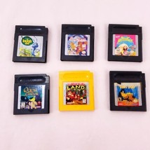 Gameboy set of 6 games Authentic and Fully Tested Donkey Kong A Bugs Life  - $18.69