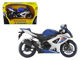 2008 Suzuki GSX-R1000 Blue Bike Motorcycle 1/12 by New Ray - $21.10