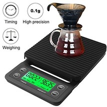 RCYAGO Coffee Scale with Timer Drip Scale 3kg 0.1g Black Backlight LCD D... - $30.57