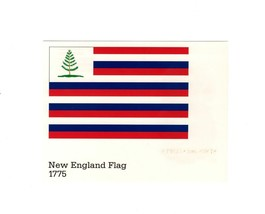 POSTCARD-FIRST Day ISSUE-NEW England Flag 1775-STARS & Stripes Series BK5 - $1.46