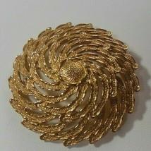 Vintage Sarah Coventry Gold Tone Filigree Swirl Brooch - $18.99
