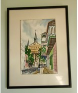 New Orleans Saint Louis Cathedral 1962 Watercolor Painting by Wm Collins - $98.99