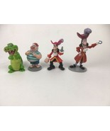 Disney Peter Pan - Smee Hook & Alligator Plastic Static Action Figures - $16.80