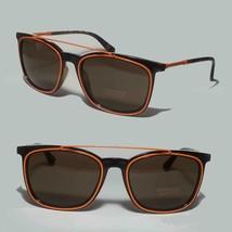 Versace MOD 4335 Men Rectangular Brown Sunglasses 50 20145 with Orange D... - $242.45