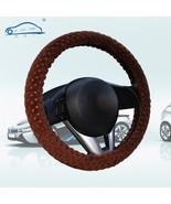 Pearl Velvet Winter Car Brown Steering Wheel Cover Soft Warm Plush Unive... - $6.80