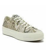 Converse Womens CTAS Lift Ox Canvas Sneaker Print 564677C Egret Multi Si... - $49.98