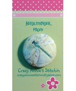 Dragonfly Needleminder fabric cross stitch needle accessory - $7.00