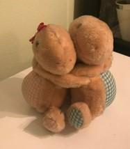 RUSS BERRIE TURTLE LOVE HUGGING BOY & GIRL TURTLES PLUSH Vintage 842 - $14.93