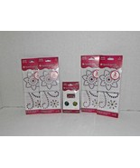 4 Packs American Girl Crafts Sparkly Iron Ons & 1 Pack Slide Charms New (l) - $13.85