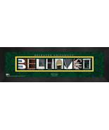 Personalized Belhaven University Campus Letter Art Framed Print - $39.95