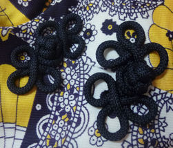 Midnight blue yellow paisley sleeveless vintage maxi dress S image 9