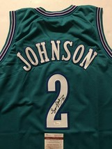 Autographed/Signed LARRY JOHNSON Charlote Teal Basketball Jersey JSA COA... - €85,01 EUR