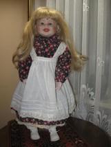 Vintage Porcelain Blonde Doll Frieda Europe 62 CM - $67.72