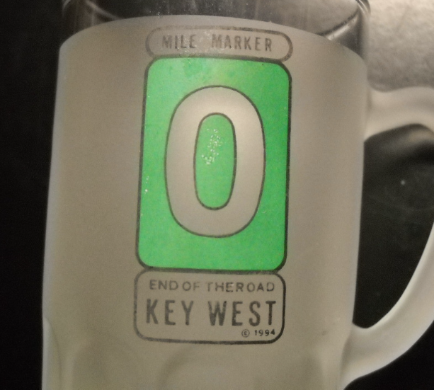 Key West Shot Glass Miniature Mug Style Double Size 1994 End Of The Road Green