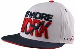 Flat Fitty Do More Work Wiz Khalifa SnapBack Baseball Cap Hat Red White Blue NWT image 2