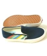 Vans Womens Slip on Sf Retro Stripes Canvas shoes Dress Blues White Size... - $68.59