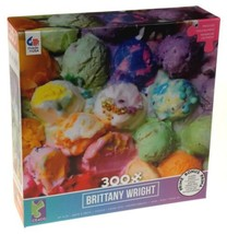 Ceaco Colorful Ice Cream Brittany Wright Jigsaw Puzzle 300 Pc Puzzles 19... - $14.99