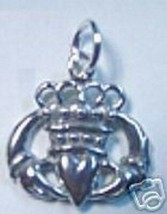 NICE CLADDAGH Sterling Silver 925 charm Jewelry Irish Promise Love Loyalty Frien - $15.42