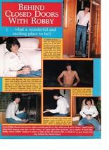 Leif Garrett Robby Benson teen magazine pinup clipping shirtless in a hut tub