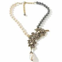 "STUNNING Heidi Daus Flowers Blossoming Simulated Pearl 16-1/2"" Drop Neck... - $179.95"