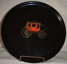 U.S. Mail CARRIAGE Plate platter Black Phenolic Couroc Monterey CA 10.5 ... - $15.83