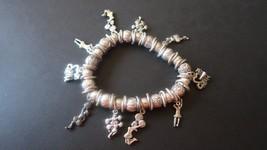 "Vintage 6.5"" Silver Stretch Cheerleader Bracelet - $19.79"