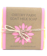 Goat Milk Soap Grapefruit & Lemongrass Chicory Farm Natural Handmade Old... - $8.99