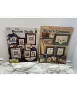 CROSS STITCH PATTERNS, LOT OF 2, FARM, BUNNY RABBITS, SHEEP, GEESE - $3.96