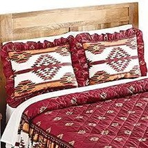 Southwestern Aztec Taos Native American Pillow Sham, Red  - $12.48