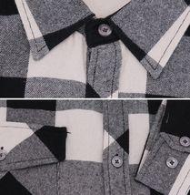 Men's Premium Cotton Button Up Long Sleeve Plaid Comfortable Flannel Shirt image 14