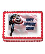 Captain America Avengers edible party cake topper decoration cake image ... - $8.98+