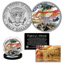 WAR IN AFGHANISTAN Longest War in US History 2001-2021 JFK Half Dollar U... - $9.46