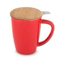 Cute Mugs, Bailey Red Insulated Tea Novelty Unique Ceramic Infuser Mug - £18.67 GBP
