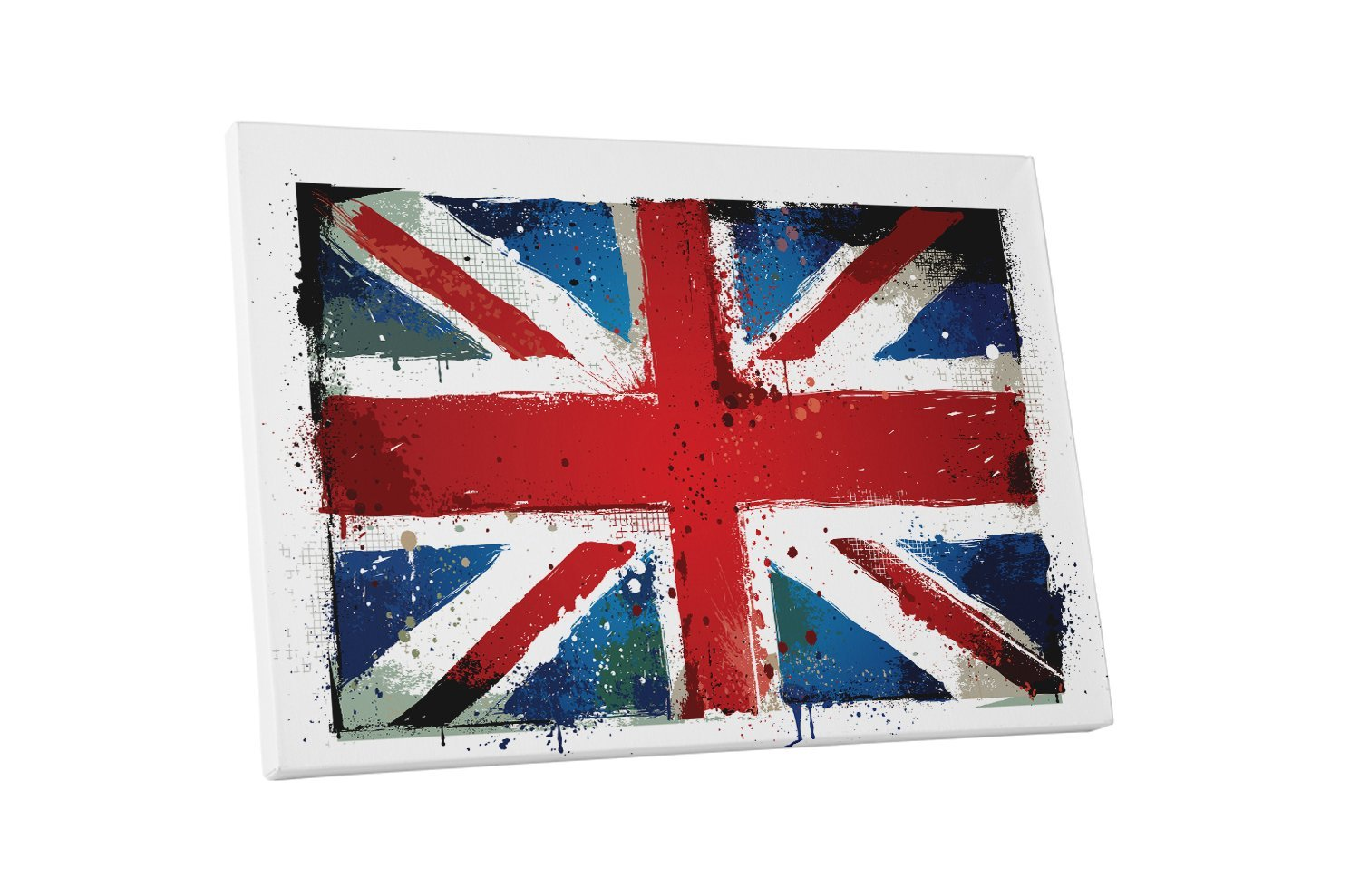 "Primary image for Pingo World 0621Q6AZZGG ""Vintage UK England Flag"" Gallery Wrapped Canvas Wall Ar"