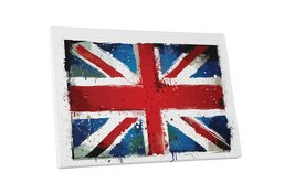 "Pingo World 0621Q6AZZGG ""Vintage UK England Flag"" Gallery Wrapped Canvas Wall Ar - $42.52"