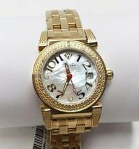 Aqua Master MOP Dial Gold Tone Diamond Womens Watch W#88J - $152.05