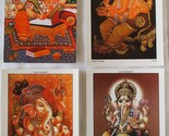 Lord Ganesh India's Gods Satya Cards Postcards Set of 4 Unused Free Shipping