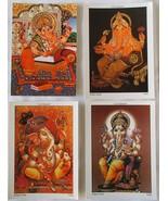 Lord Ganesh India's Gods Satya Cards Postcards Set of 4 Unused Free Ship... - $9.99