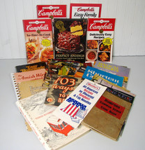 Vintage Cookbook Lot Spiral Campbells Culinary Arts Good Housekeeping 30... - $20.00