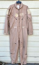 GENUINE US AIR FORCE TAN NOMEX FIRE RESISTANT FLIGHT SUIT CWU-27/P - 44L - $49.50