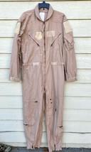 Genuine Us Air Force Tan Nomex Fire Resistant Flight Suit CWU-27/P - 44L - $49.50
