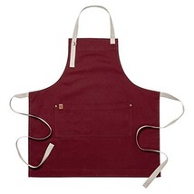 Ayesha Curry Chef & Hostess Apron   Canvas - Oxblood   Perfect for Your ... - $22.01