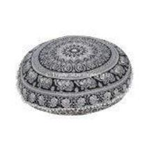 Traditional Jaipur Exports Round Floral Mandala Floor Cushions with Filler, Deco - $52.46
