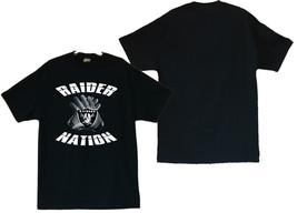 Raiders Football Team Gloves On Men's Black Shirt - $20.78+