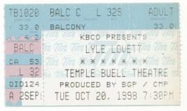 RARE Lyle Lovett 10/20/98 Denver CO Ticket Stub! - $2.96