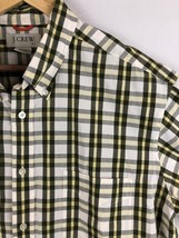 J Crew Mens Size Large Short Sleeve Yellow Plaid Button Down Shirt - $12.65