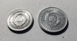 Lot of 2 Yugoslavia 1  Dinar & @ 2 Dinara Aluminum coins - $1.95