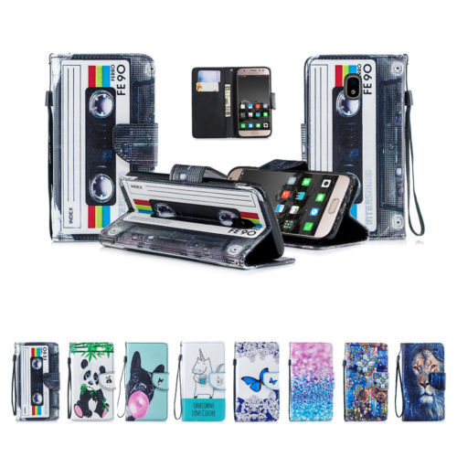 for Samsung J3 J5 2017 PU Leather Wallet Card Slot Protect Flip Stand Case Cover